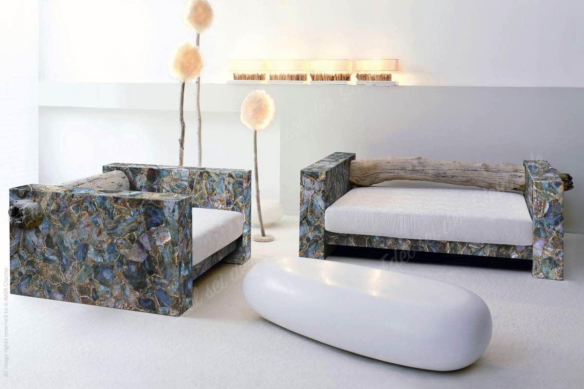 Wohnzimmer - Bilderkollektion von Applikationen mit Edelsteinen
